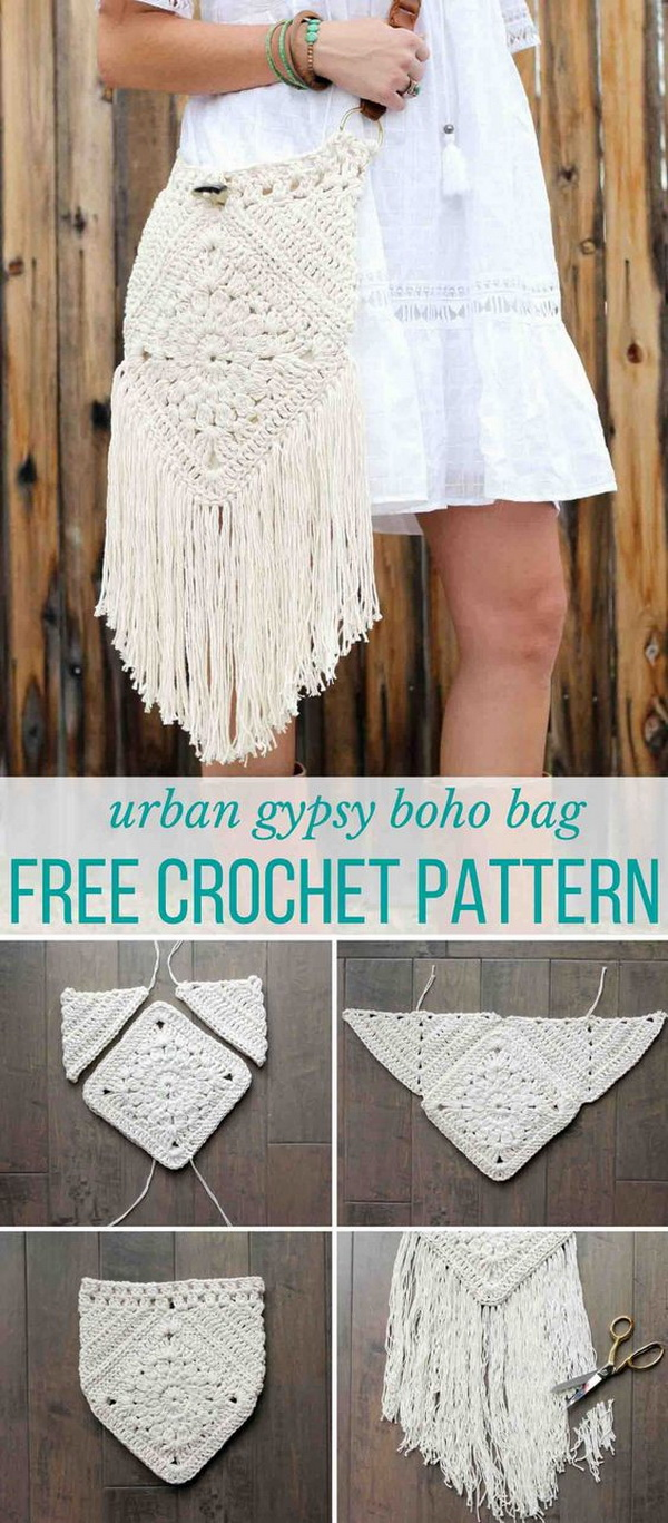 Urban Gypsy Boho Crochet Bag This Urban Gypsy Boho Crochet Bag Is Loaded