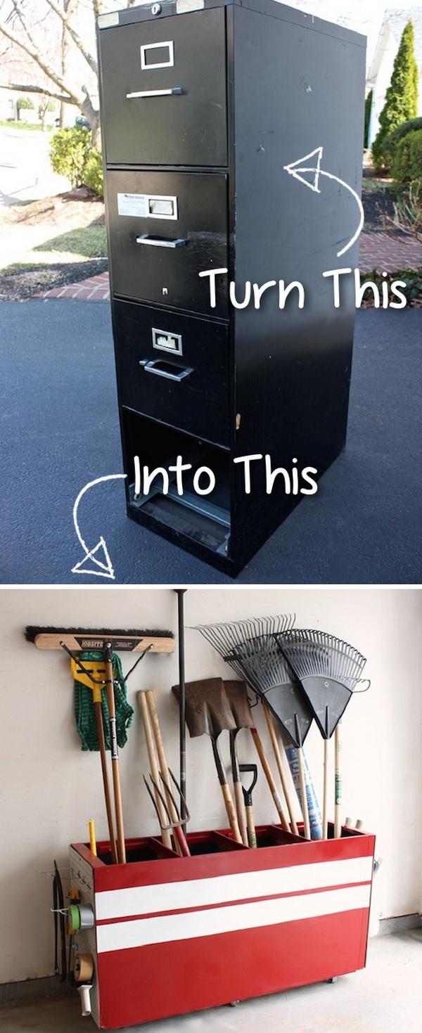 File Cabinet To Garage Storage.
