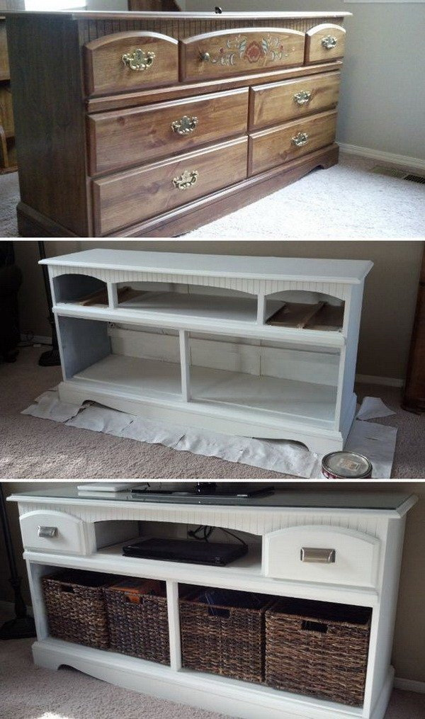 DIY TV Stand Makeover.