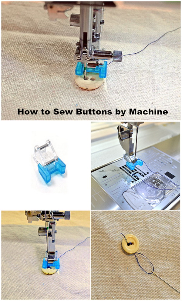 Genius Sewing Tips & Tricks: How to Sew On Buttons by Machine with Ease.