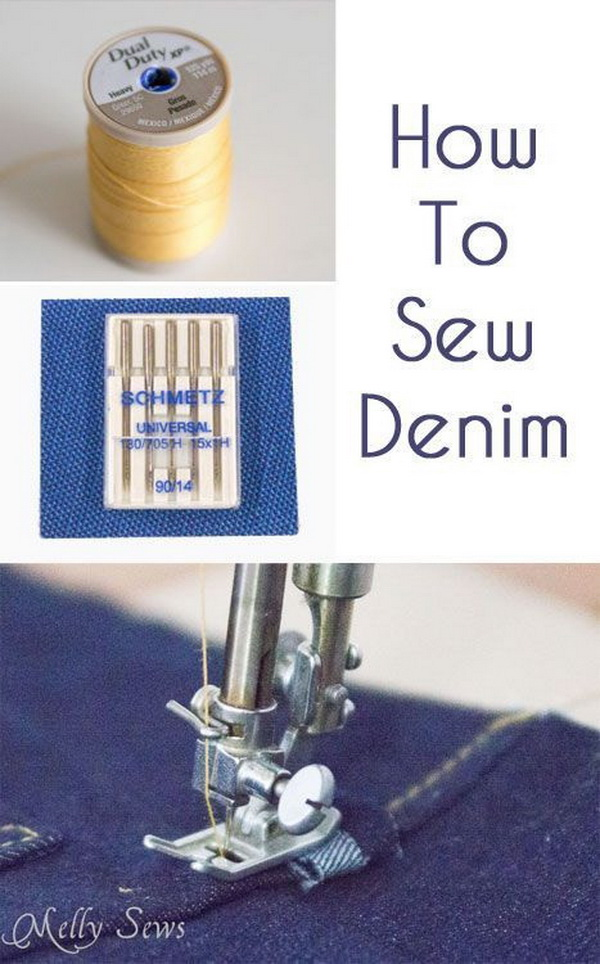 Genius Sewing Tips & Tricks: Tips on How to Sew Denim.