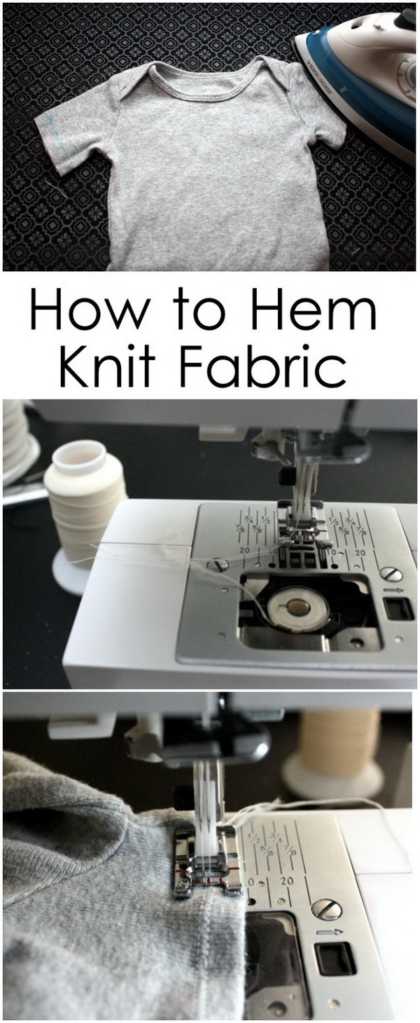 Genius Sewing Tips & Tricks: The Secret to Hem Knits.