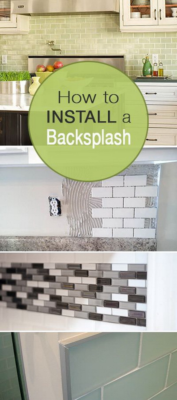 Kitchen Makeover: How to Install a Backsplash.