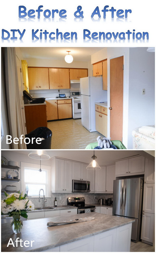 Before And After: DIY Kitchen Renovation.