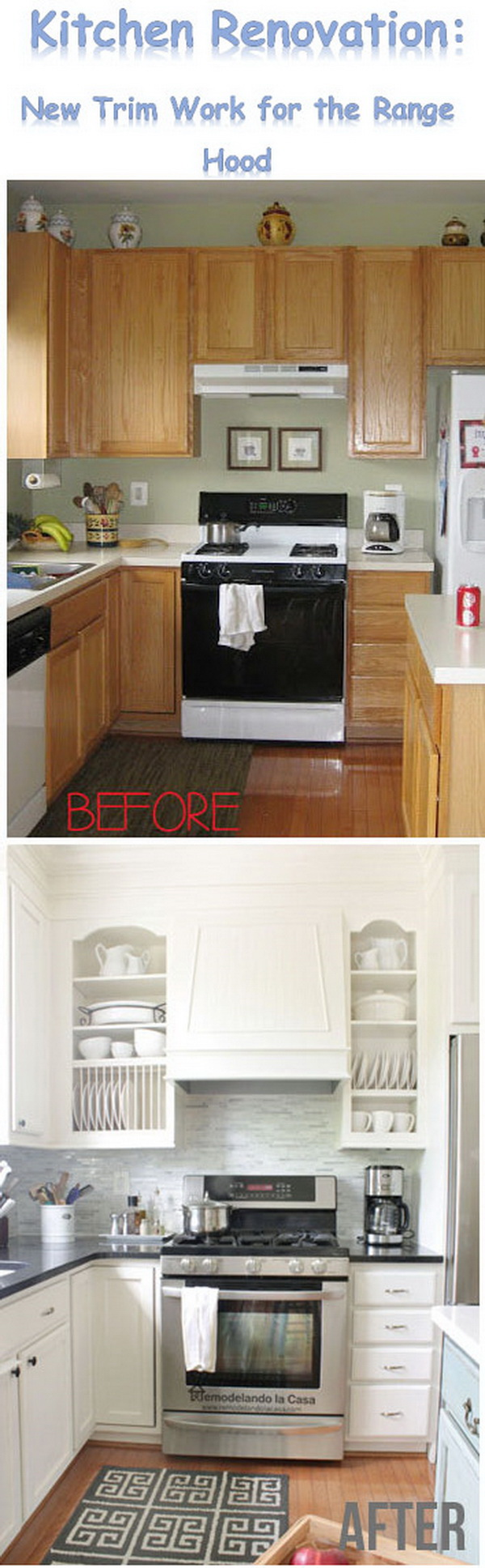 Kitchen Renovation: New Trim Work for the Range Hood.