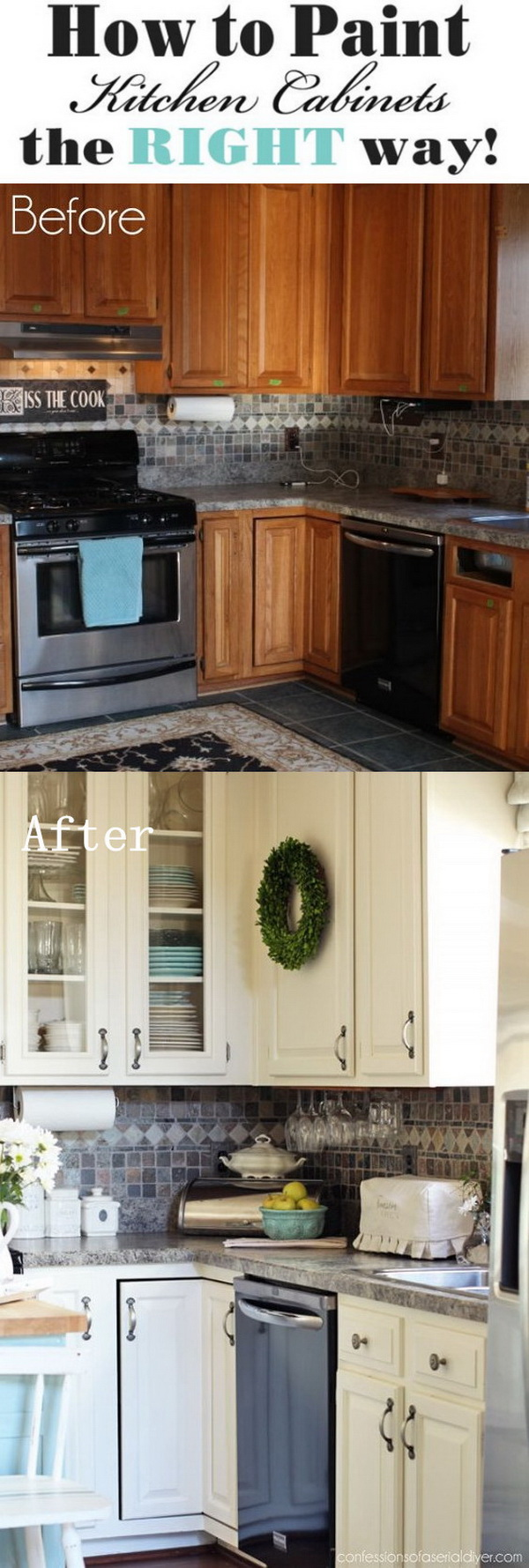 Paint Kitchen Cabinets.