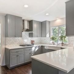Grey Kitchen Backsplash Countertop Laminate 70 Stunning Ideas For Creative Juice Grecian White Marble Subway Tile And