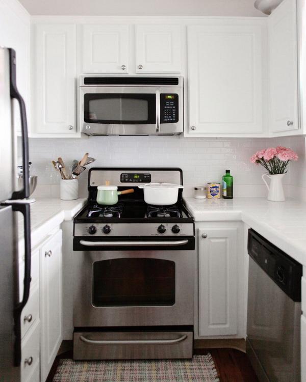 Peel and Stick Faux Tile Kitchen Backsplash.