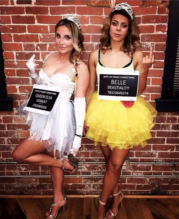 Criminal Disney Princess. Have you always wanted to be a Disney princess? Now  sc 1 st  For Creative Juice & 45+ Inspirational Best Friend Costume Ideas for Halloween - For ...