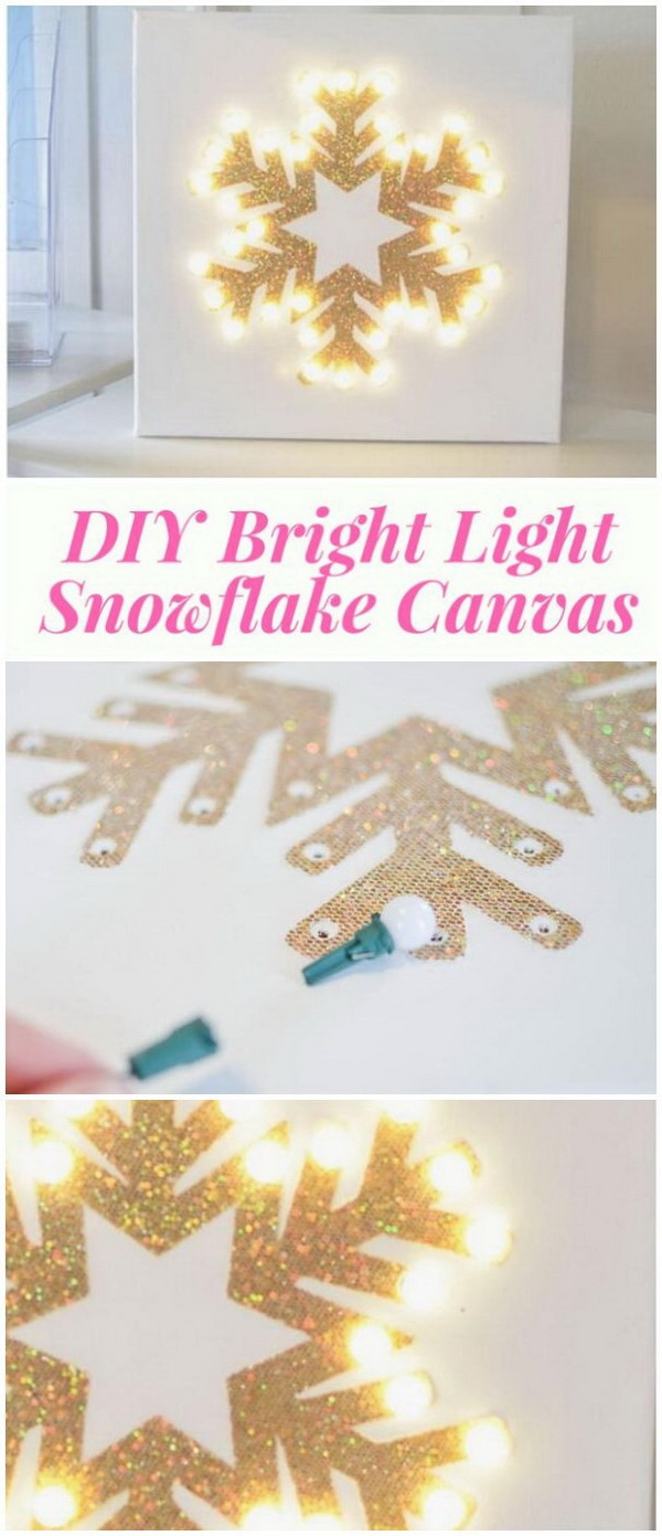 Bright Light Snowflake Canvas. This bright light snowflake canvas is really nice! Great for the yard or the wall in the dining room.