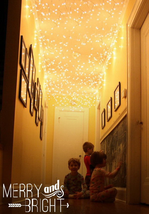 add twinkle lights to your hallway ceiling all things looks so