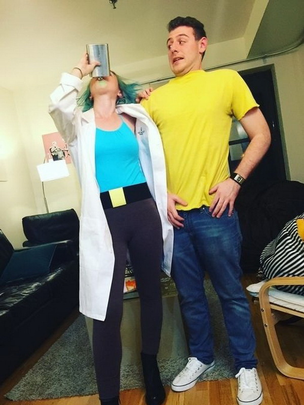 Rick and Morty Costume - Halloween Costume. Stylish Couple Costumes for Halloween.
