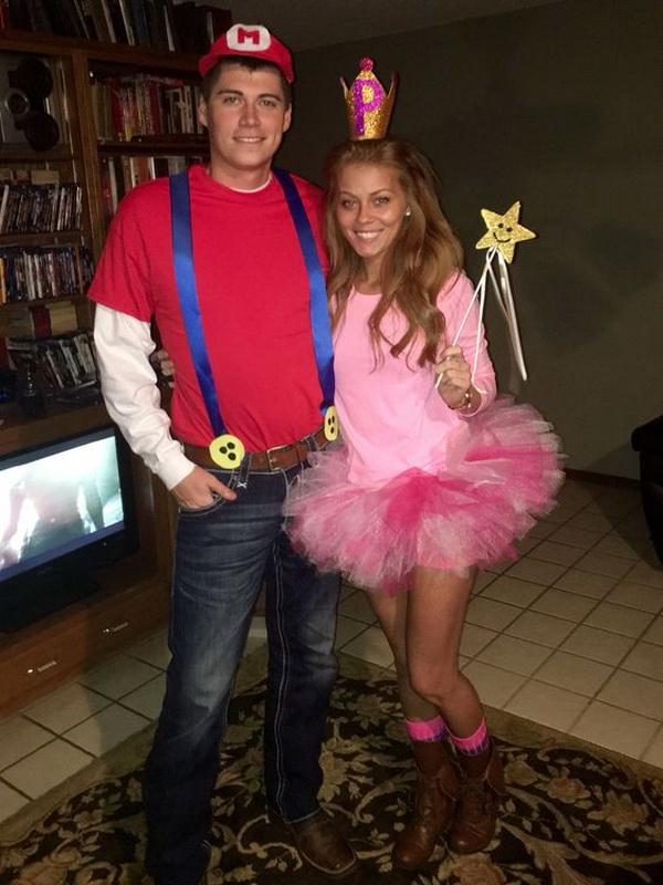 Mario and Princess Peach Halloween Costume Idea  sc 1 st  For Creative Juice & 75+ Stylish Couples Costumes for Halloween 2017 - For Creative Juice