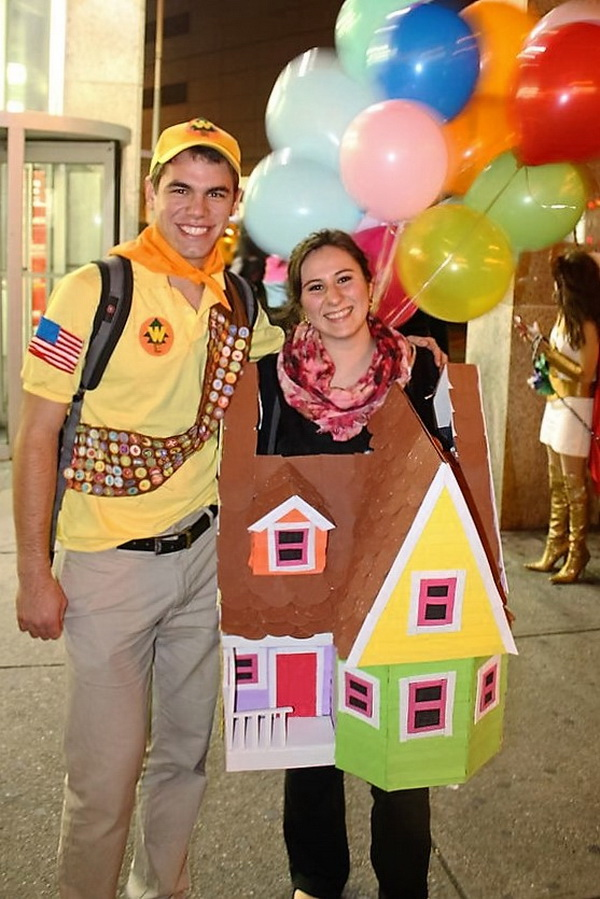 Russell and the Balloon House. Stylish Couple Costumes for Halloween.