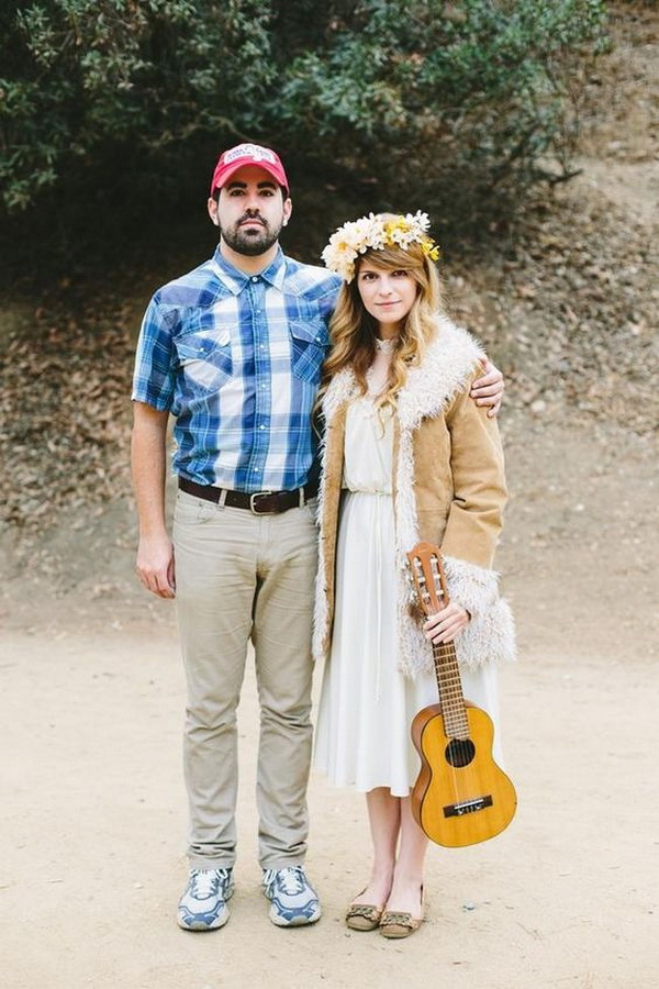 Forrest Gump & Jenny. Stylish Couple Costumes for Halloween.
