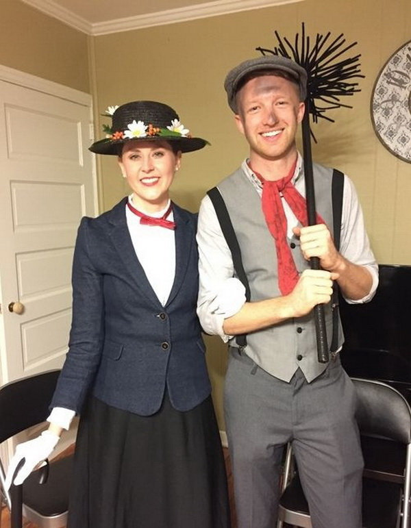 Mary Poppins & the Chimney Sweep Costume. Stylish Couple Costumes for Halloween.