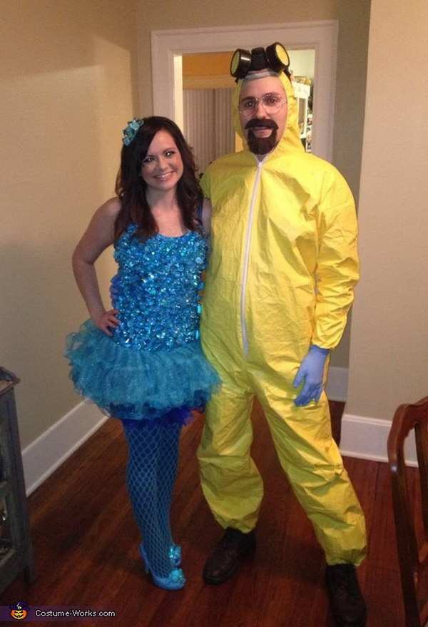 Blue Meth and Walter White Couple's Costume. Stylish Couple Costumes for Halloween.