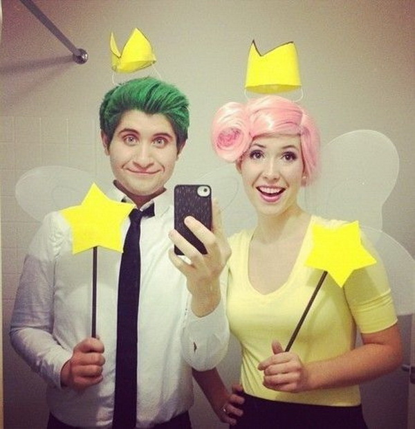 Cosmo And Wanda Costumes. Stylish Couple Costumes for Halloween.