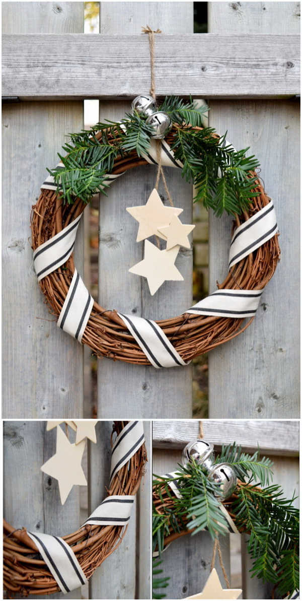 Rustic Christmas Wreath Diy.55 Rustic Farmhouse Inspired Diy Christmas Decoration Ideas