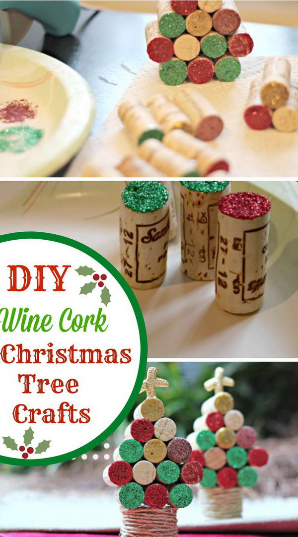 Homemade Projects & Ideas for Christmas Decoration: Wine Cork Christmas Tree Craft.