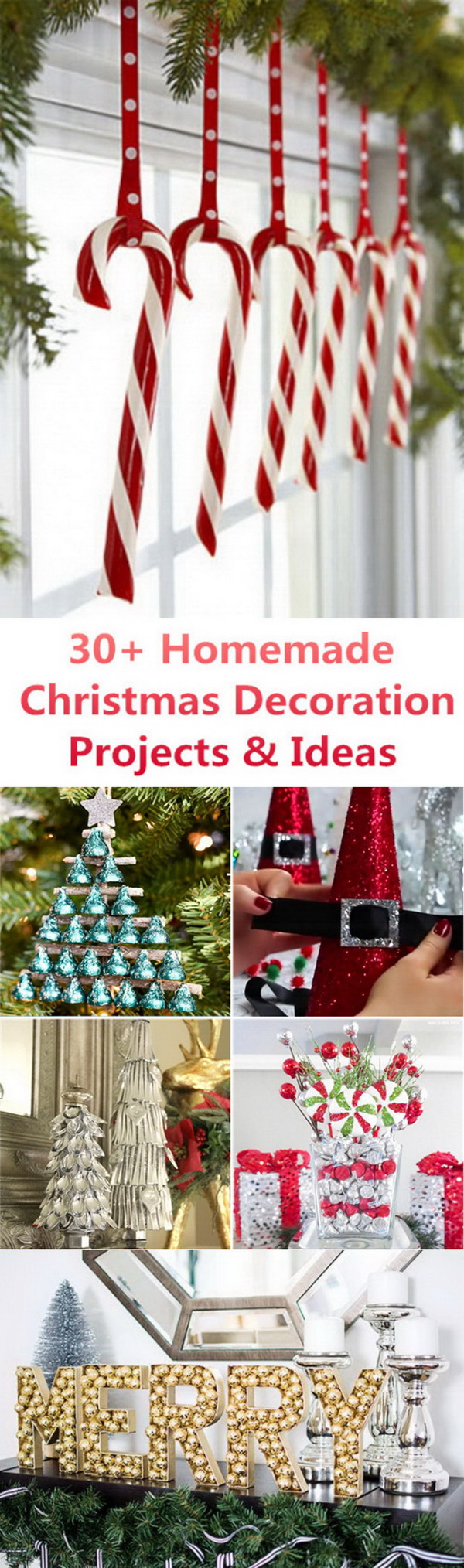 30+ Homemade Christmas Decoration Projects & Ideas: Christmas is probably the best time of the year for decoration! With a little bit of time and creativety, a few extra dollars, you can try your hand at some homemade projects and ideas for your Christmas decorations.  These unique homemade Christmas ornaments will give you a great chance to express your creativity and it can be with a lot of fun.