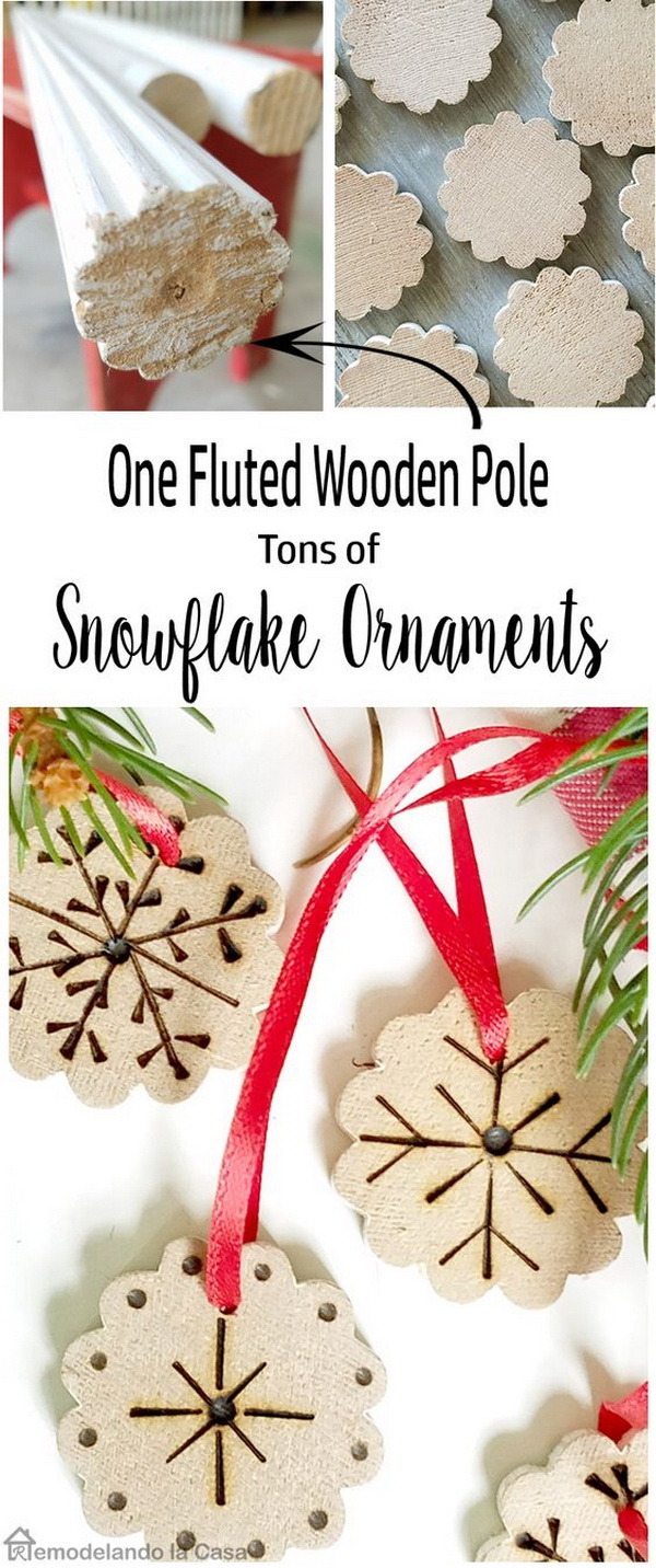 Snowflake Ornaments. Easy and Fun DIY Christmas crafts for You and Your Kids to Have Fun.