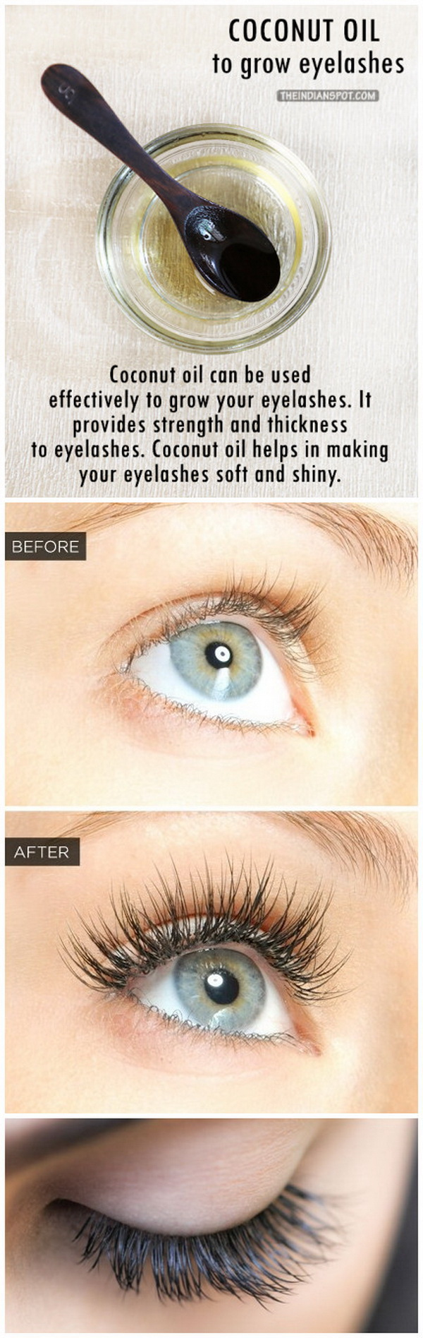 Grow your eyelashes with