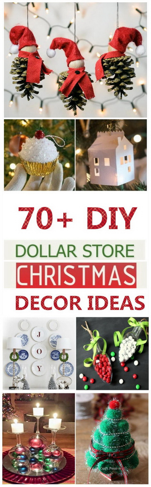 70+ DIY Dollar Store Christmas Decor Ideas - For Creative Juice