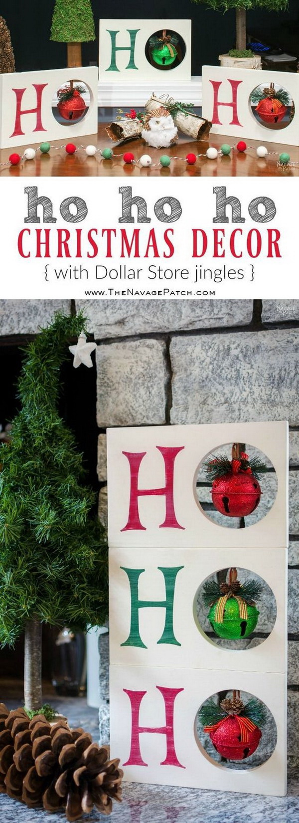 diy ho ho ho christmas decor - 99 Cent Store Christmas Decorations