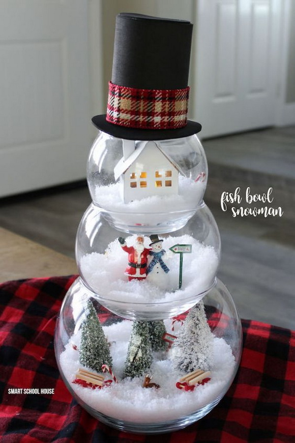 Dollar Store Fishbowls Into the Cutest Christmas Decoration.