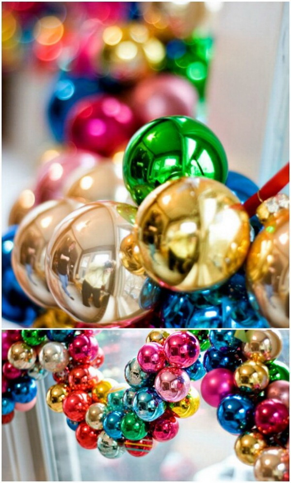 Make your home look festive for less this holiday season with easy DIY dollar store Christmas decor ideas. Wreaths, candles, centerpieces, wall art, ornaments, vases, gifts and more!Christmas Ornament Garland.