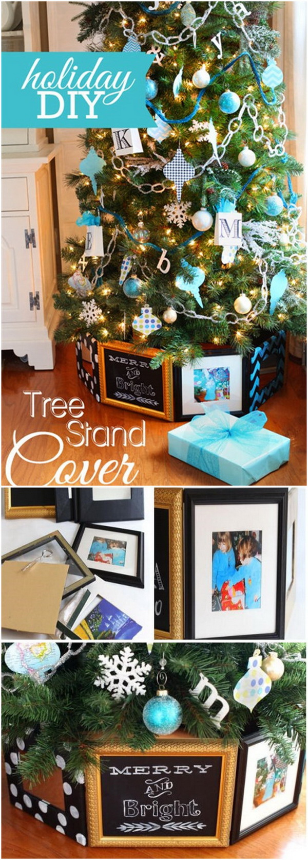 Christmas Tree Stand Cover Using Frames.