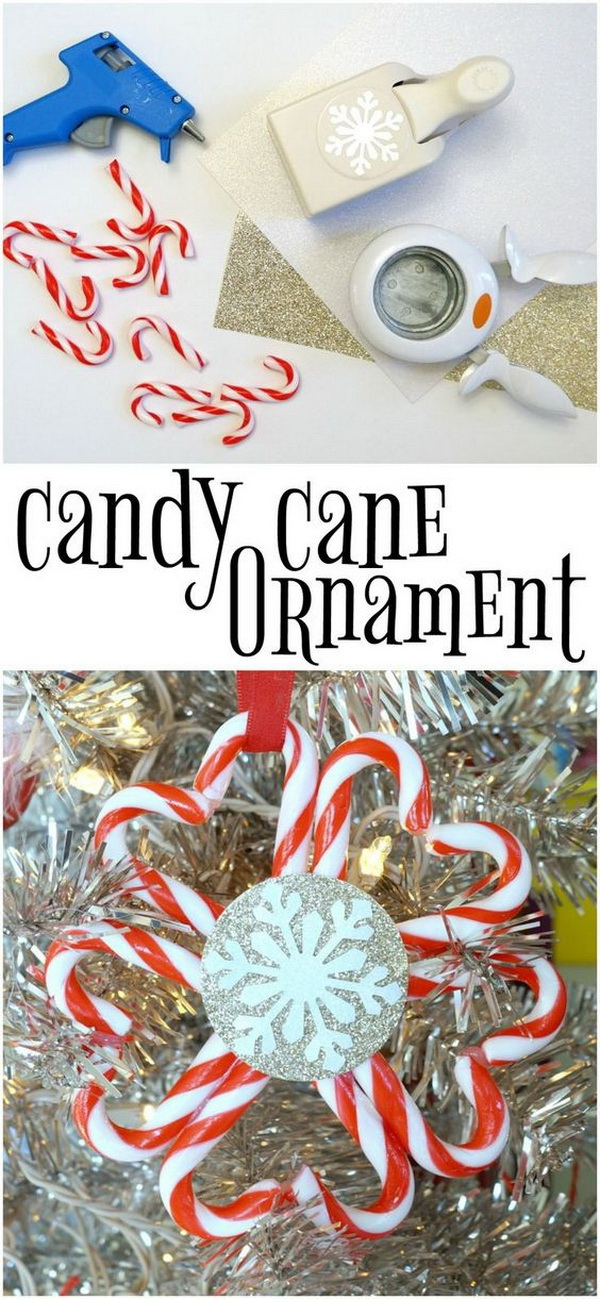 Dollar Store Candy Cane Ornament.