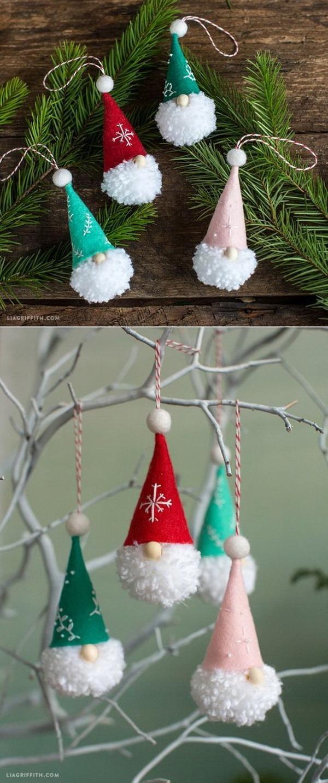 Pom Pom Gnome Ornaments.