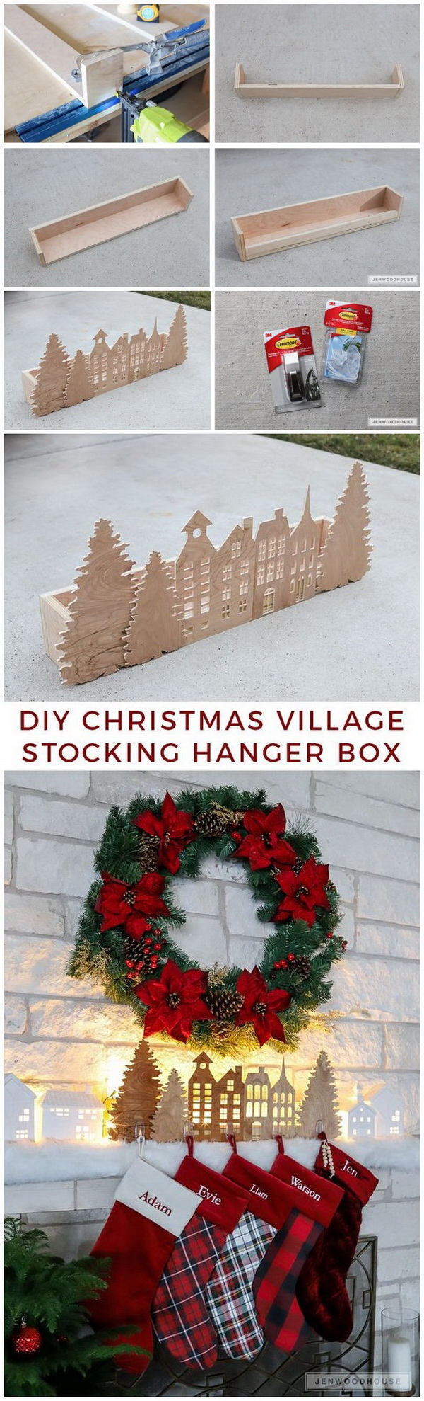 Christmas Village Stocking Hanger Box.