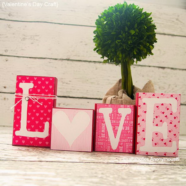 Easy DIY Love Blocks.
