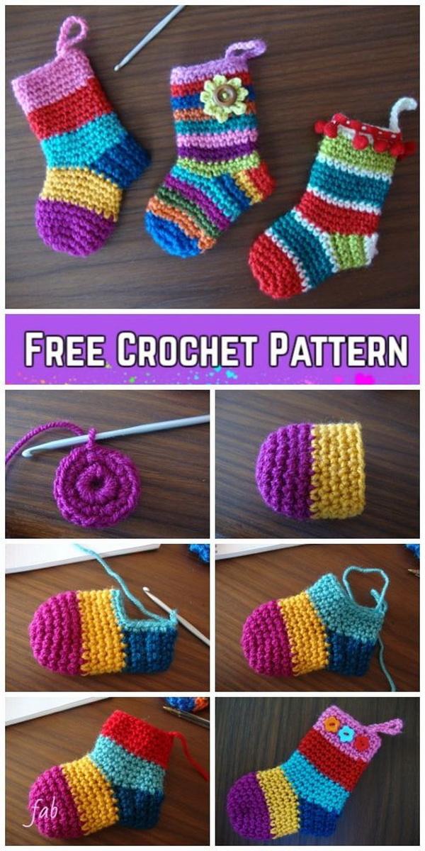 Crochet Christmas Socks.