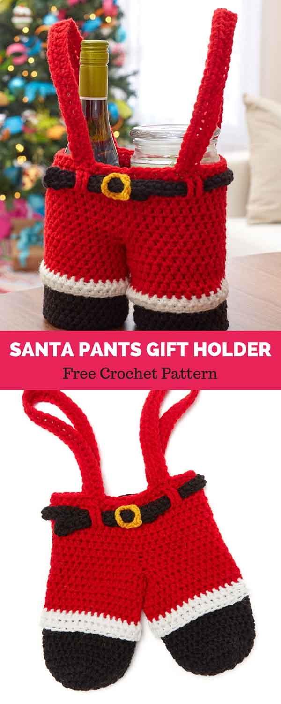 Santa Pants Gift Holder.
