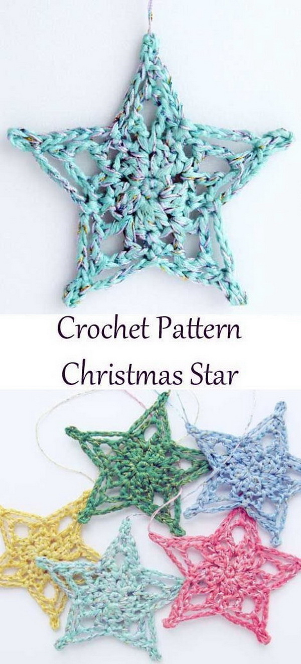 Christmas Star Ornaments. This pretty, bright star will make a beautiful accent to your Christmas tree or any holiday decor!