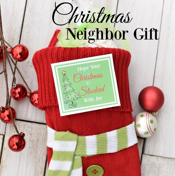 Christmas Neighbor Gift Ideas: Stocking Christmas Gift.