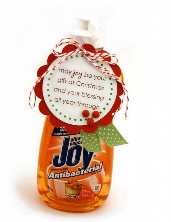 Christmas Neighbor Gift Ideas: Joy Soap Gift