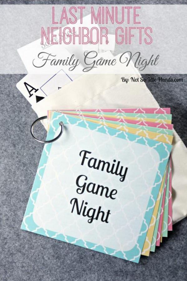 Christmas Neighbor Gift Ideas: Family Game Night