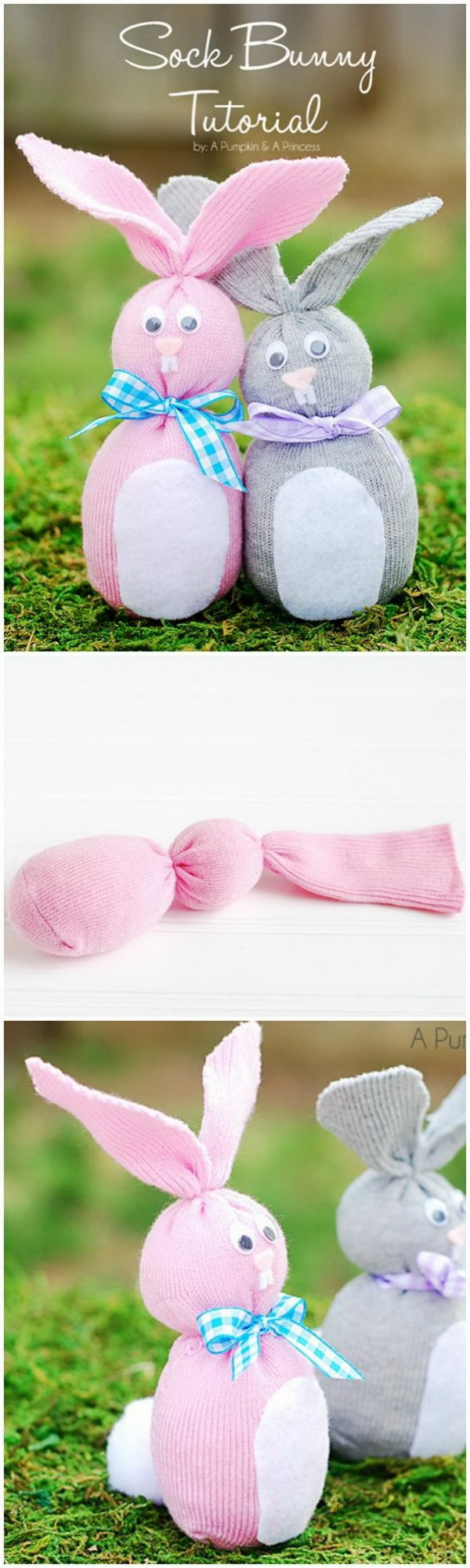 DIY Easter Decoration Ideas: Sock Easter Bunny.