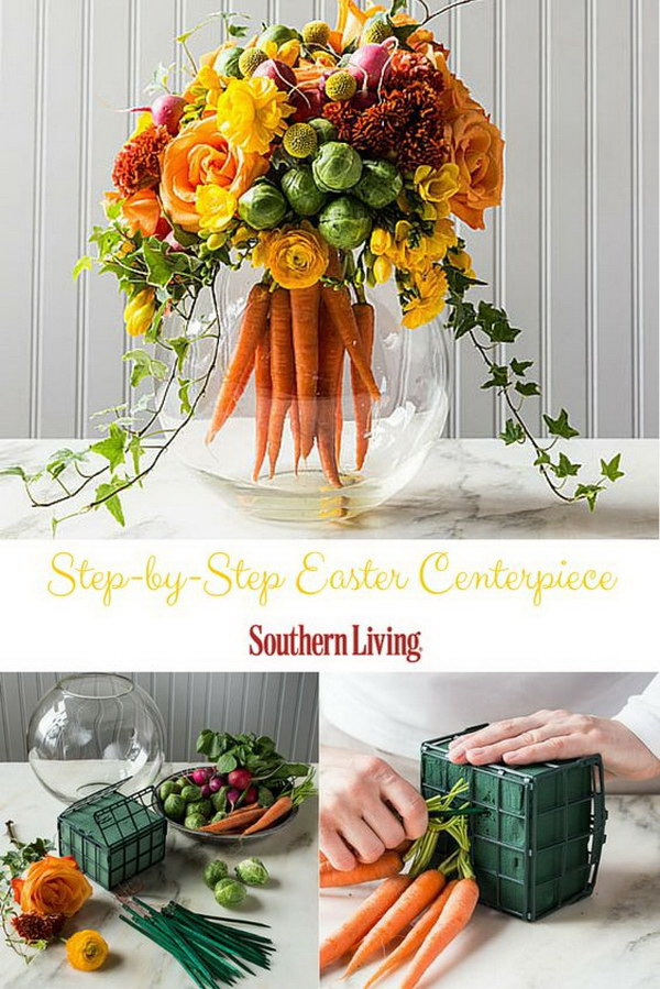 DIY Easter Decoration Ideas: DIY Easter Table Centerpiece.