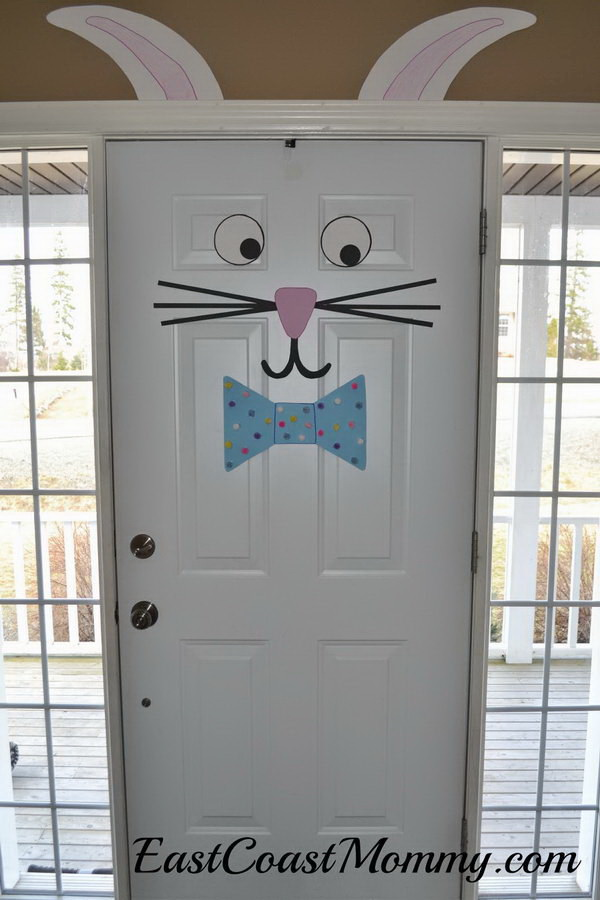 DIY Easter Decoration Ideas: Easter Bunny Door.