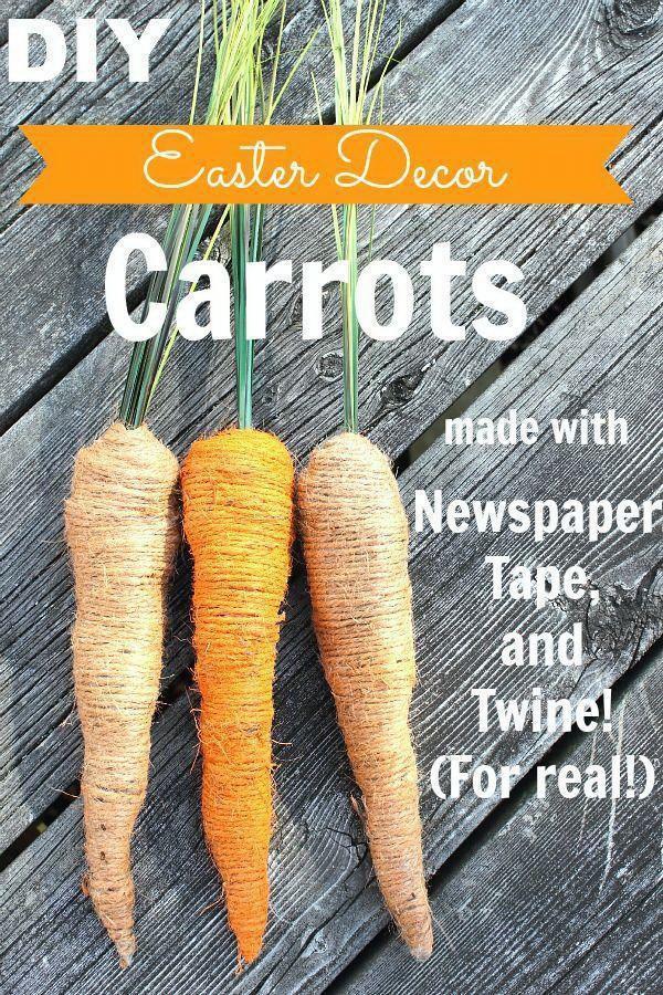 DIY Easter Decoration Ideas: DIY Easter Decor Carrots.