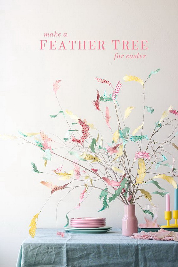 DIY Easter Decoration Ideas: DIY Paper Swedish Easter Tree.