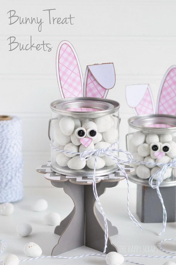 DIY Easter Decoration Ideas: Bunny Treat Bucket.