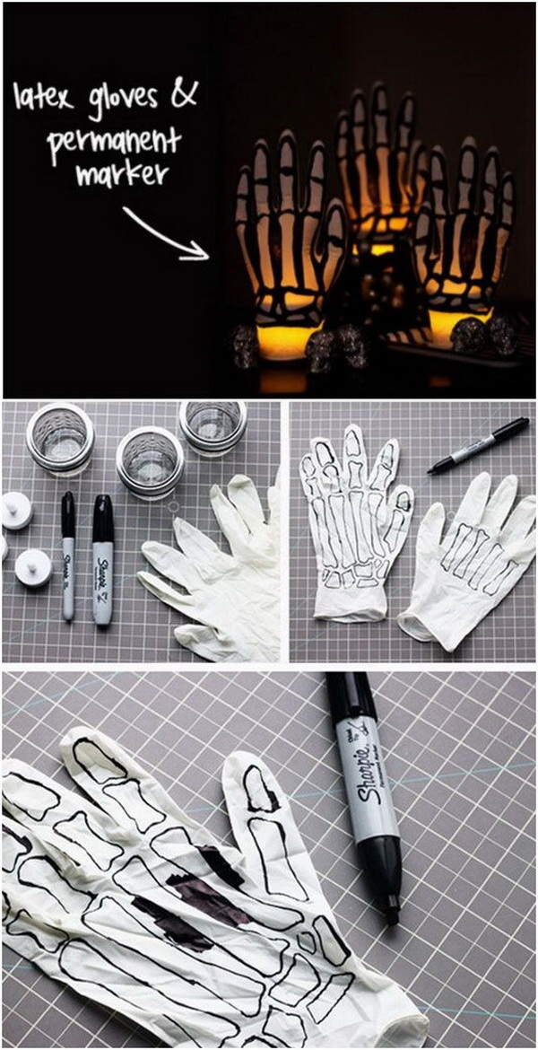 DIY Halloween Decorating Projects: Spooky Skeleton Hands.