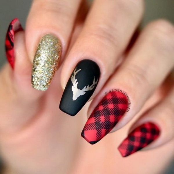 65+ Best Christmas Nail Art Ideas for 2020 , For Creative Juice